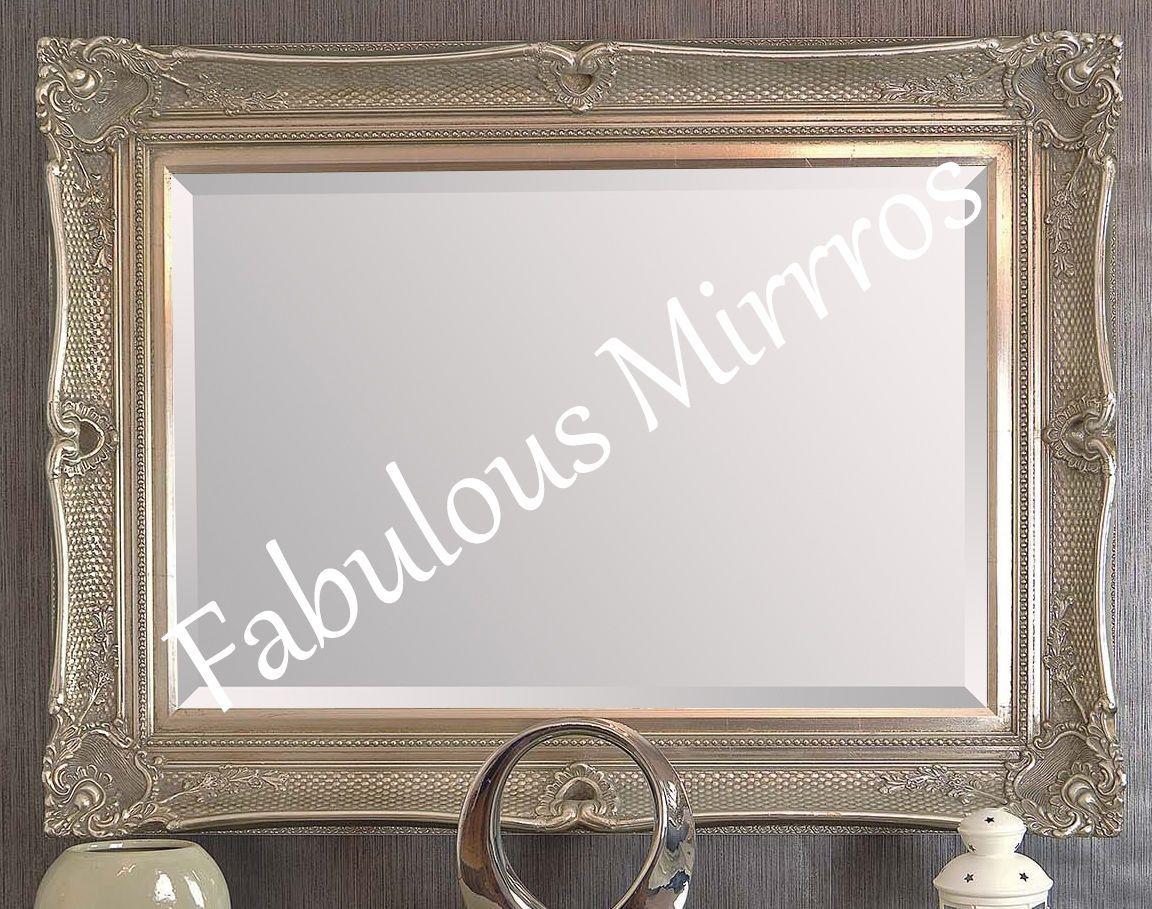 X Large Black Decorative Ornate Mirror Other Frame